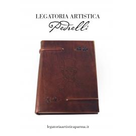 """Diario """" Verdi """" in pelle"""