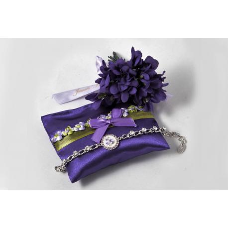 Bracciale cristalli e Violetta di Parma