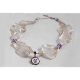 Collier in fibra di titanio Violetta di Parma