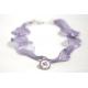 Collier in fibra di titanio colore viola Violetta di Parma